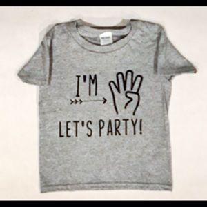 CUSTOM Kids birthday shirt- Any age NWT